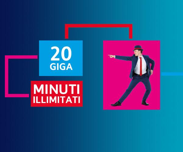 Passa a TIM Wonder Four Per te 20 Giga e minuti illimitati a 18,99€ al mese