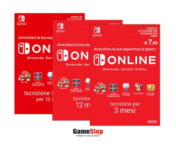 Gamestop abbonamento Nintendo Swicth Online.