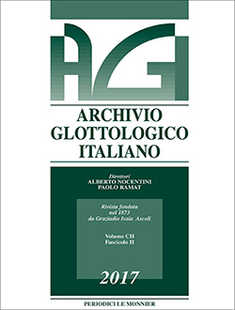 Abbonamento Archivio Glottologico in offerta: 1 anno 2 numeri
